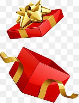 Red Gift Box Vector, Gift Clipart, Open, Empty PNG and.