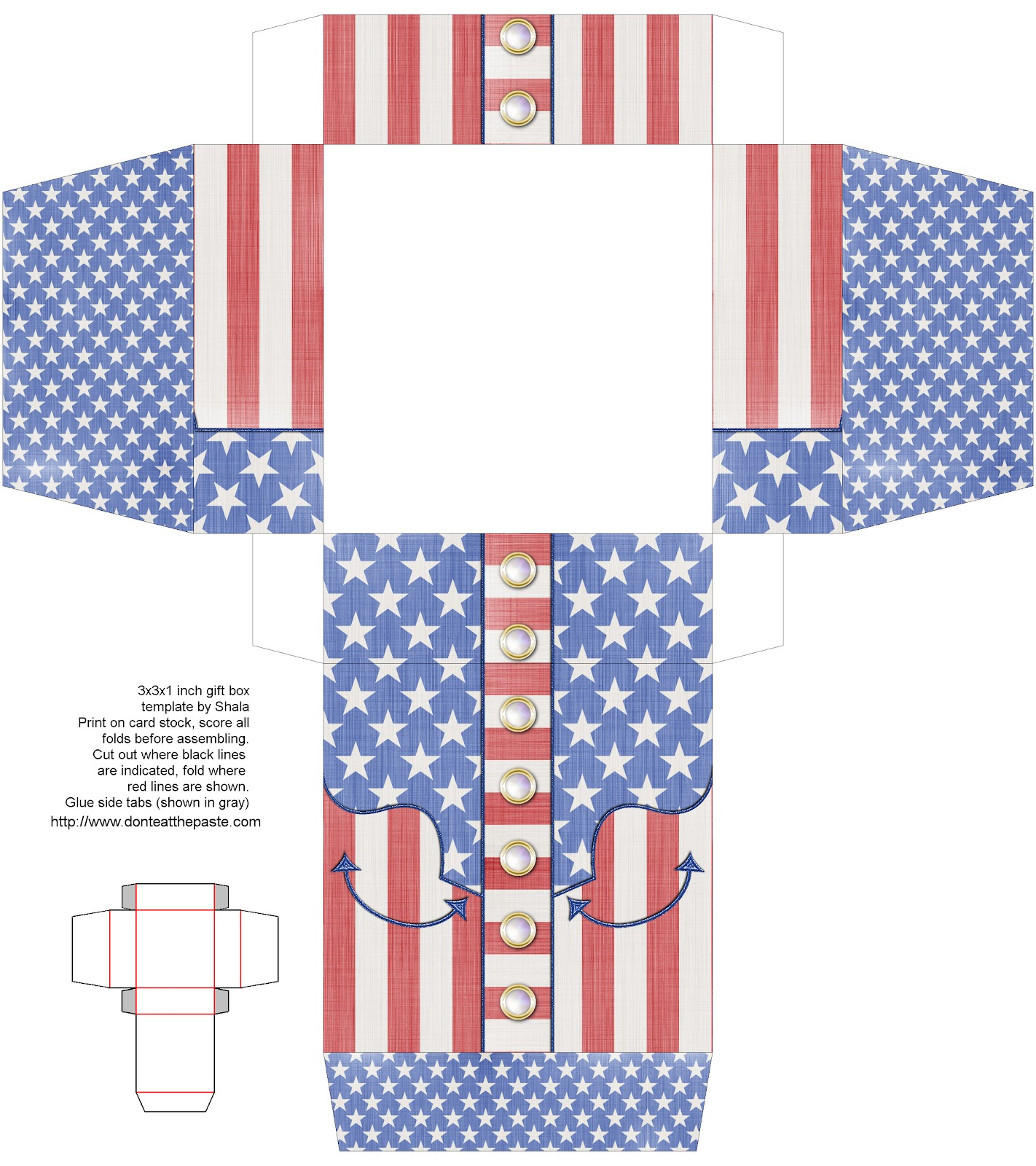 Don't Eat the Paste: Patriotic Western Themed Printable Box.