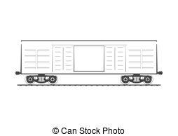 Boxcar Vector Clip Art Royalty Free. 94 Boxcar clipart vector EPS.