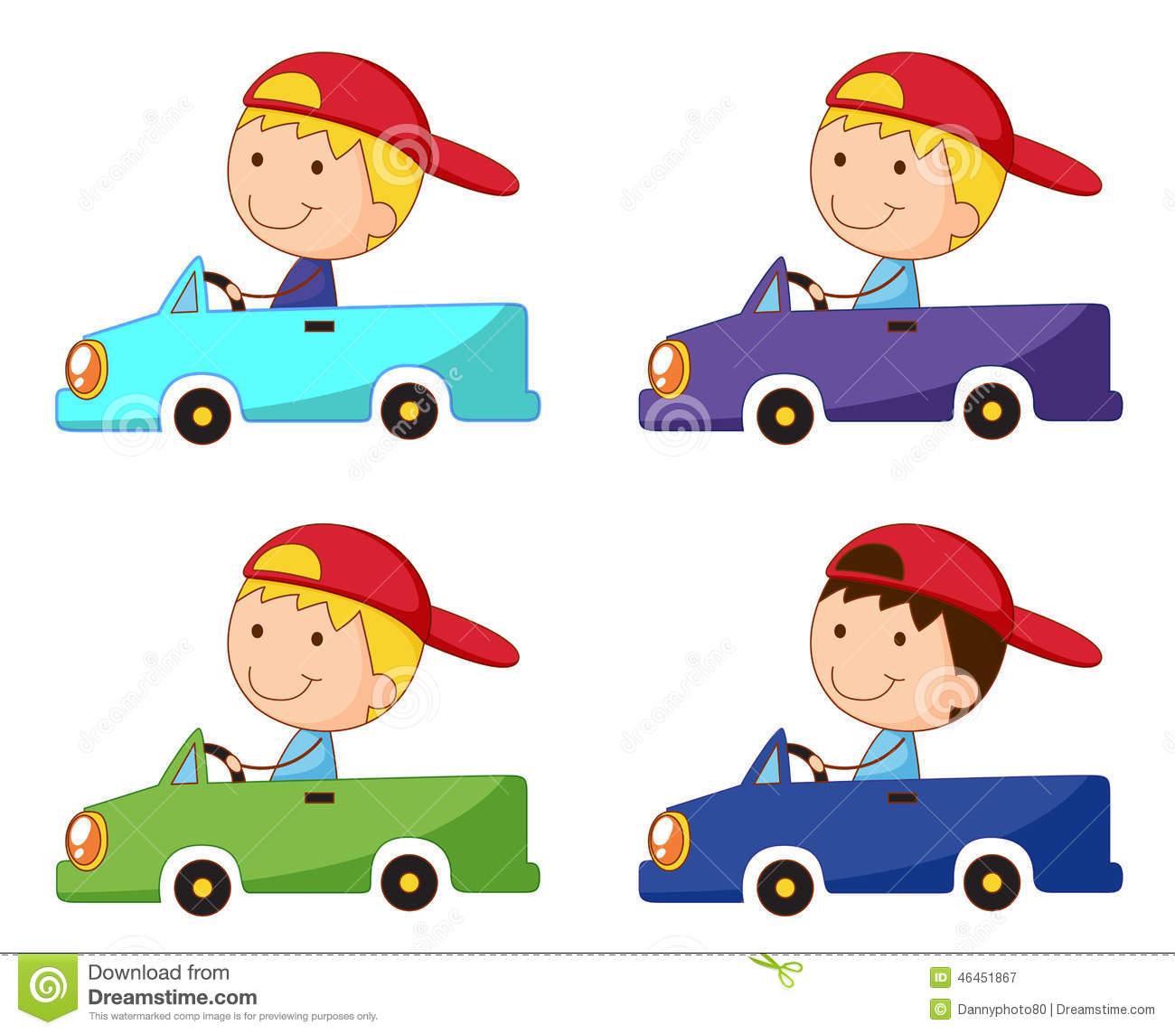 Box Car Kid Stock Vector.