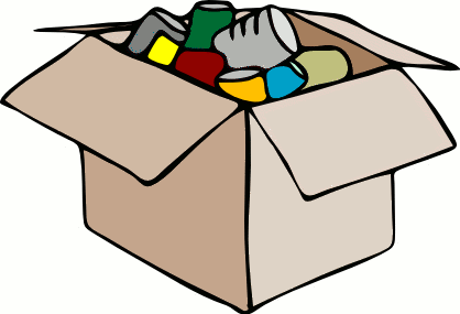Boxed food clipart blank.