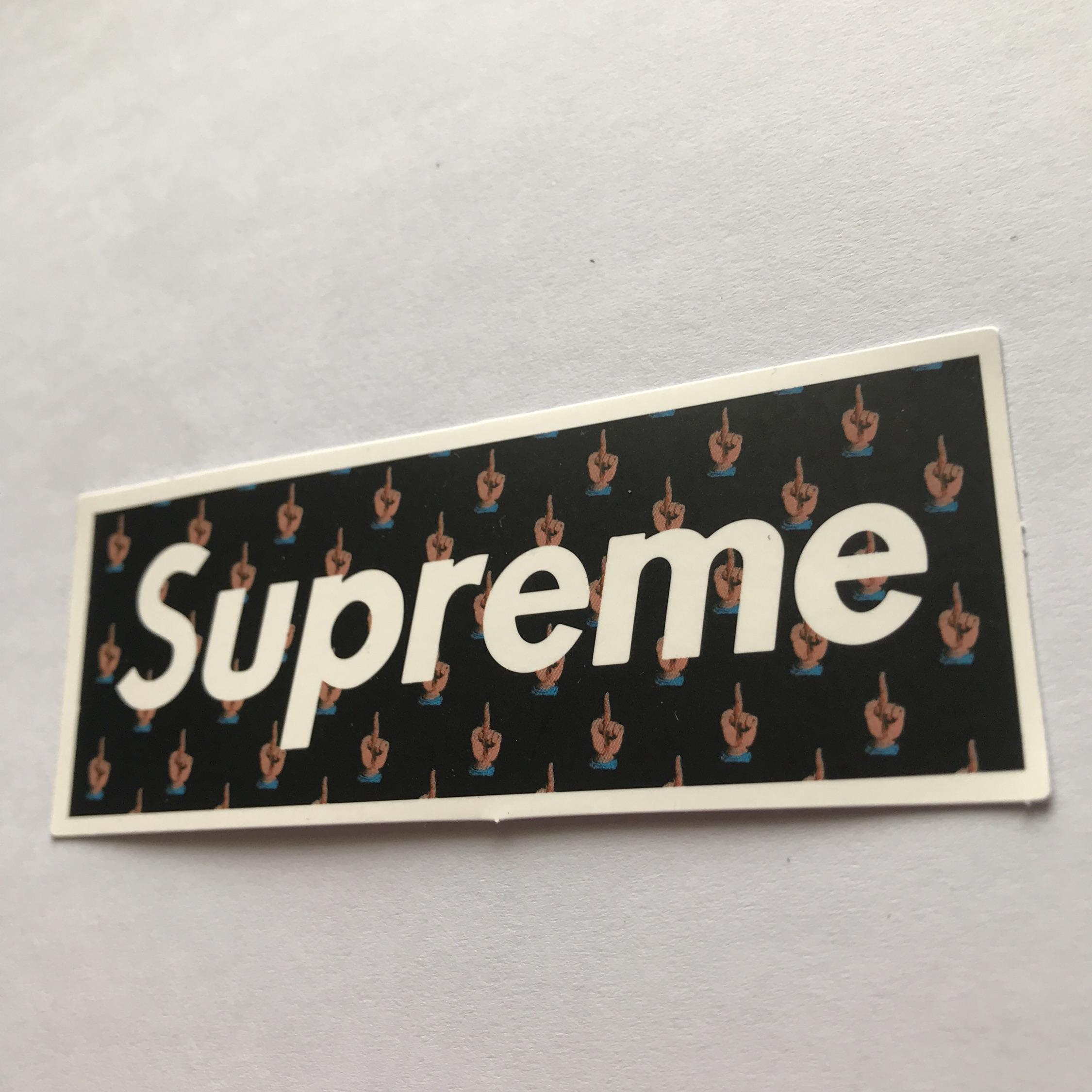 Supreme Middle Finger Boxed Logo.