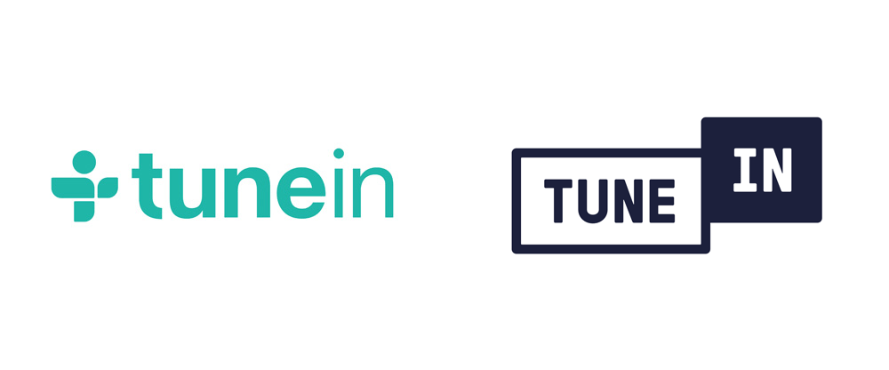 Brand New: New Logo for TuneIn done In.