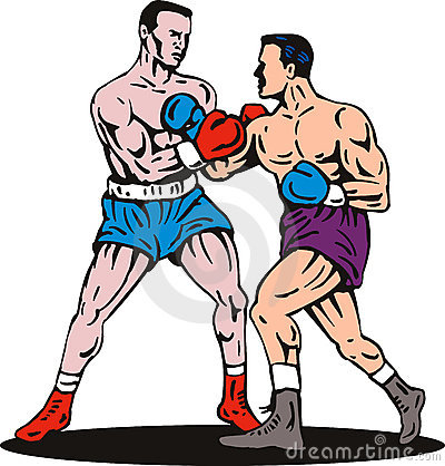 1656 Boxing free clipart.