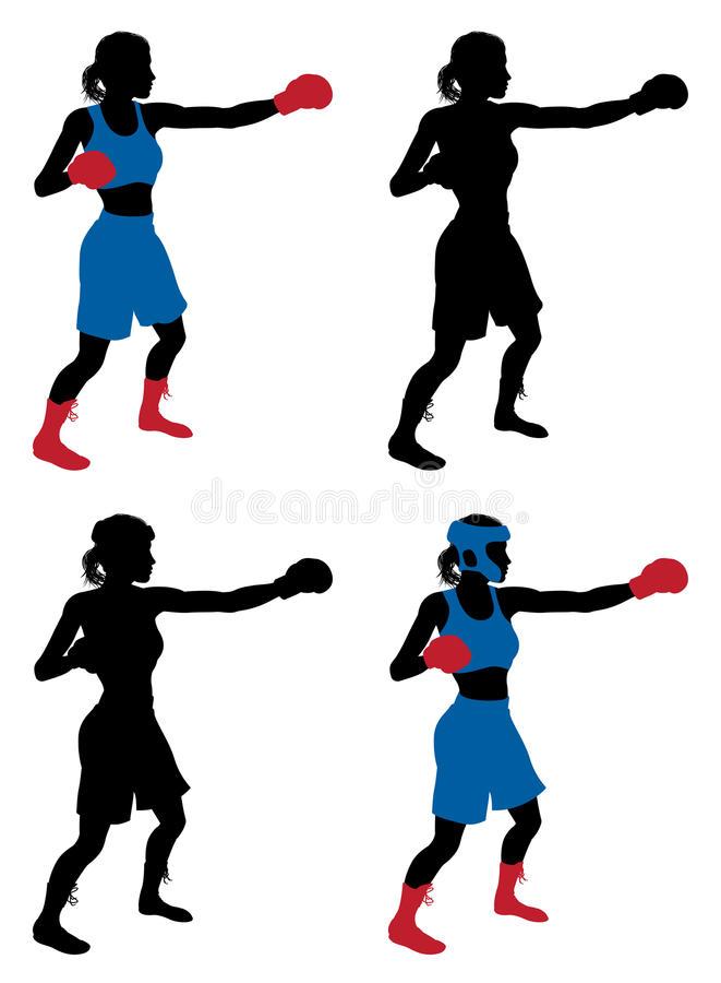 Female Boxer Stock Illustrations.