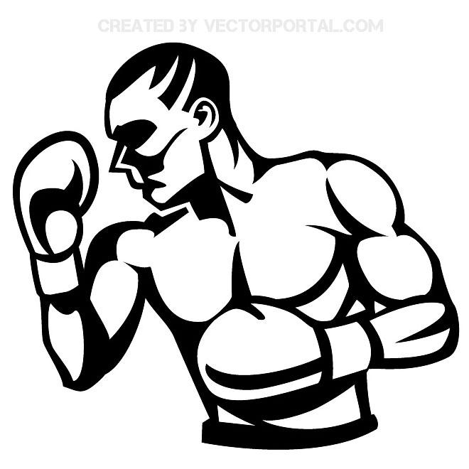Boxer Clip Art Free Vector.