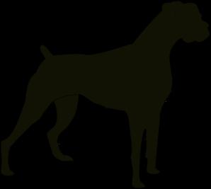 Boxer Silhouette clip art.