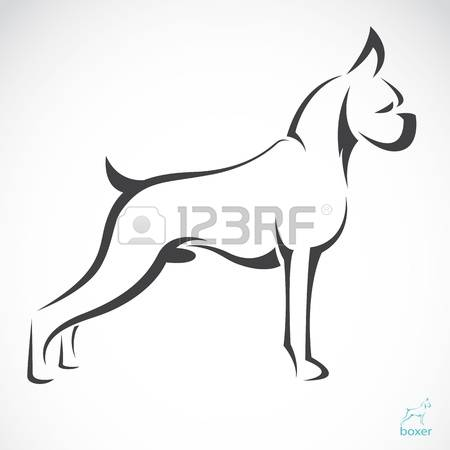 1,335 Boxer Dog Stock Vector Illustration And Royalty Free Boxer.