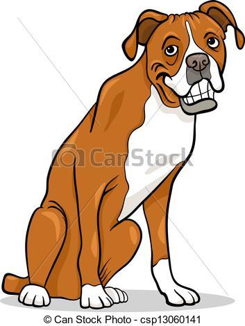 Boxer dog free clipart.