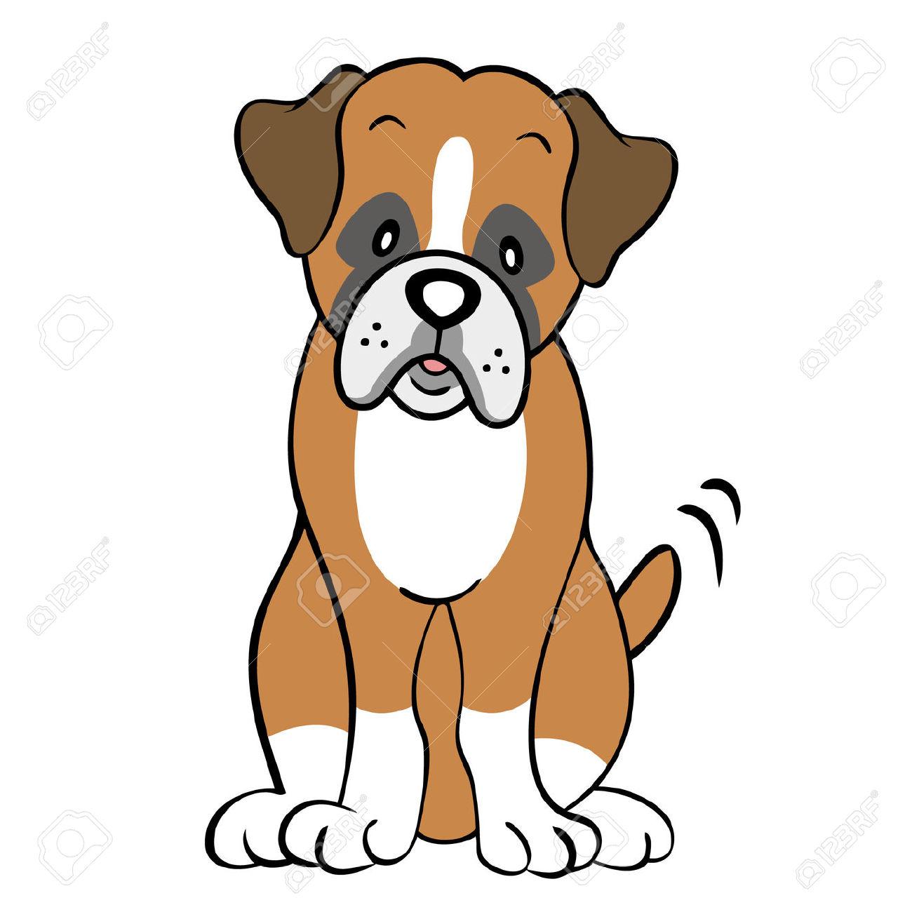 Boxer dog clip art.
