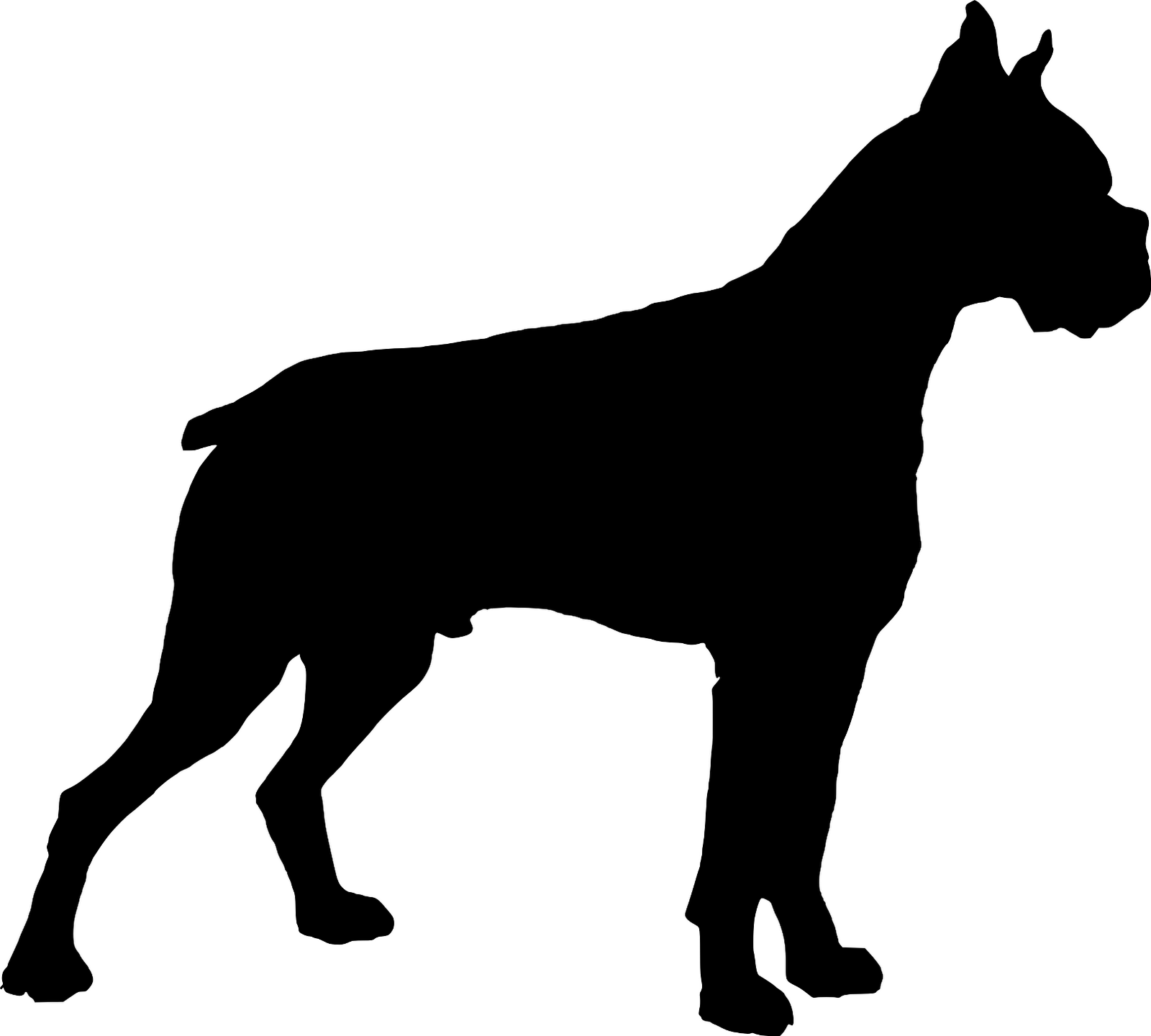 Boxer Dog Clipart Black And White.