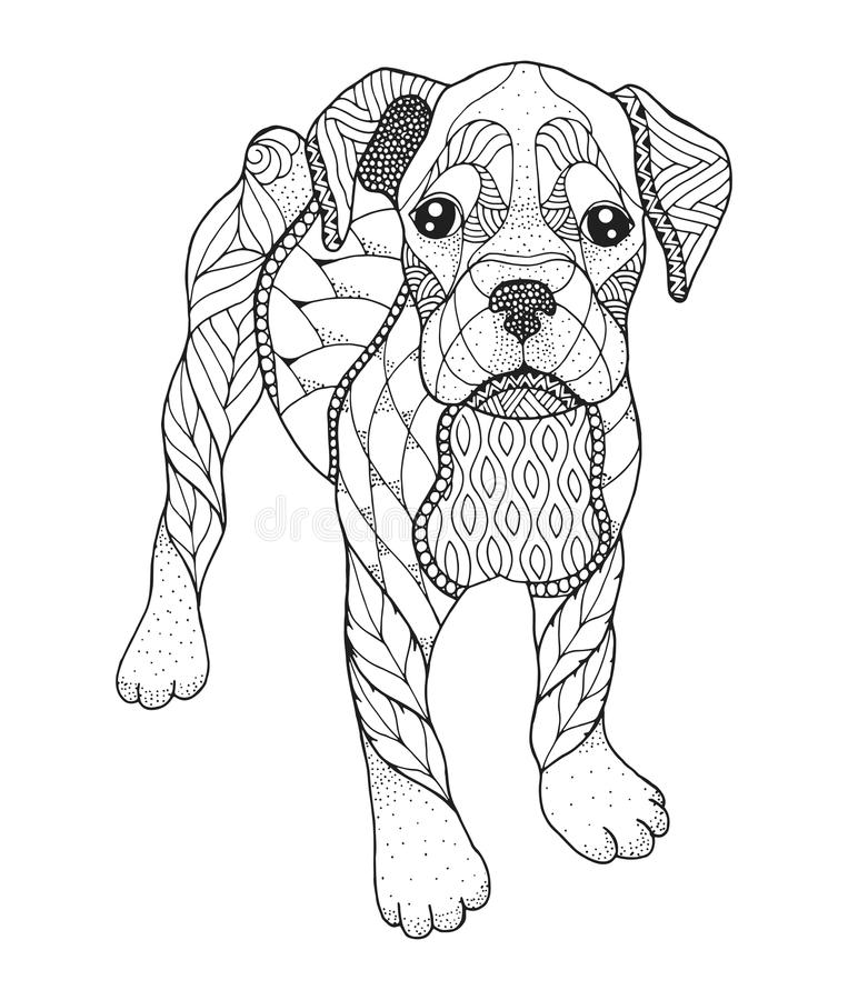 Boxer Dog Stock Illustrations.