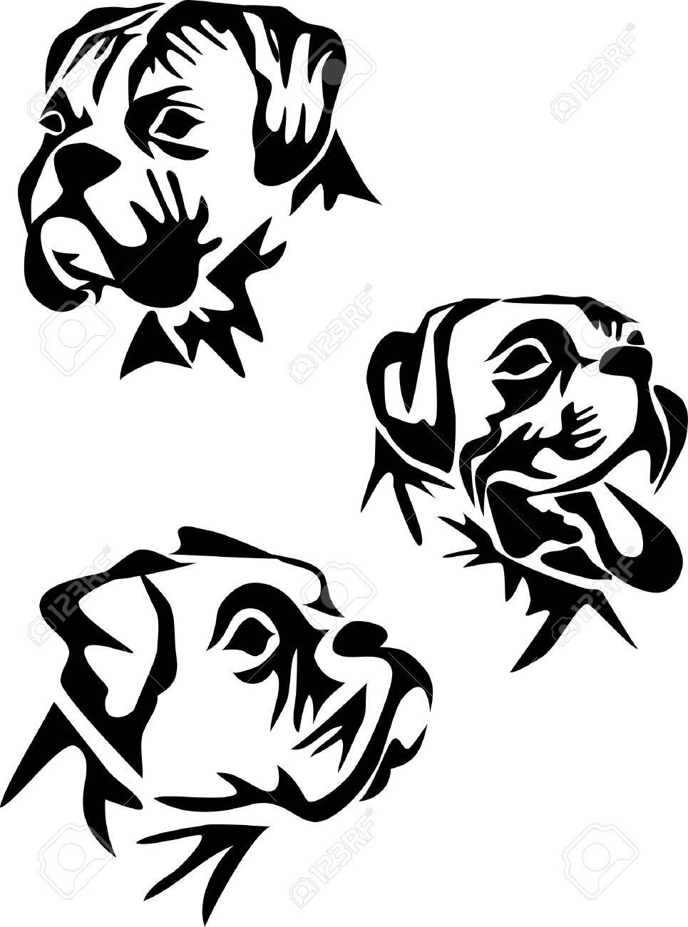 Boxer dog clipart black and white 8 » Clipart Station.