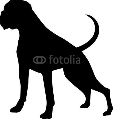 Afbeeldingsresultaat voor silhouette boxer dog.