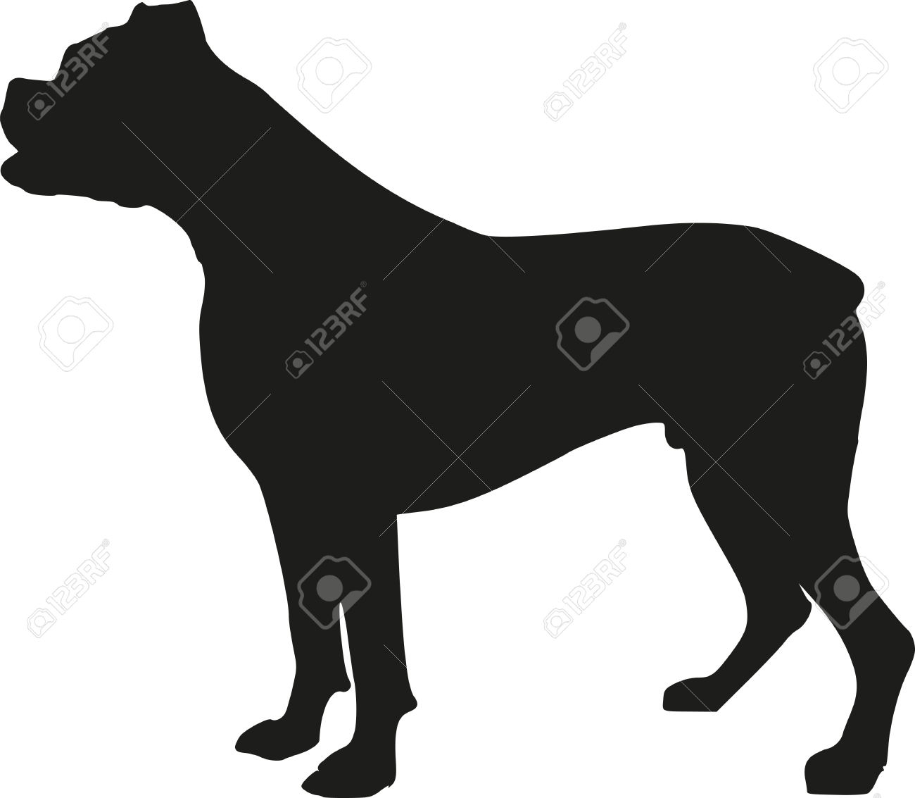 Boxer Dog Silhouette Clip Art boxer dog silho...