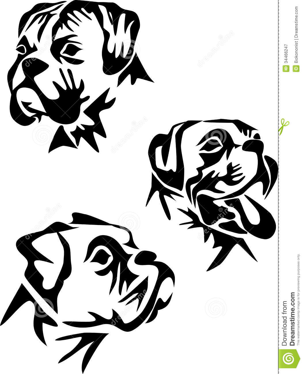 Line Art Dog Tattoo : Boxer dog silhouette clipart clipground