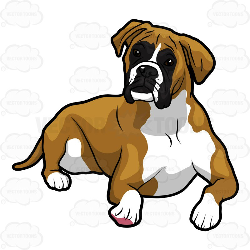Boxer dogs clipart 6 » Clipart Station.