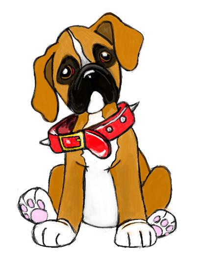 Boxer Dog Clipart.