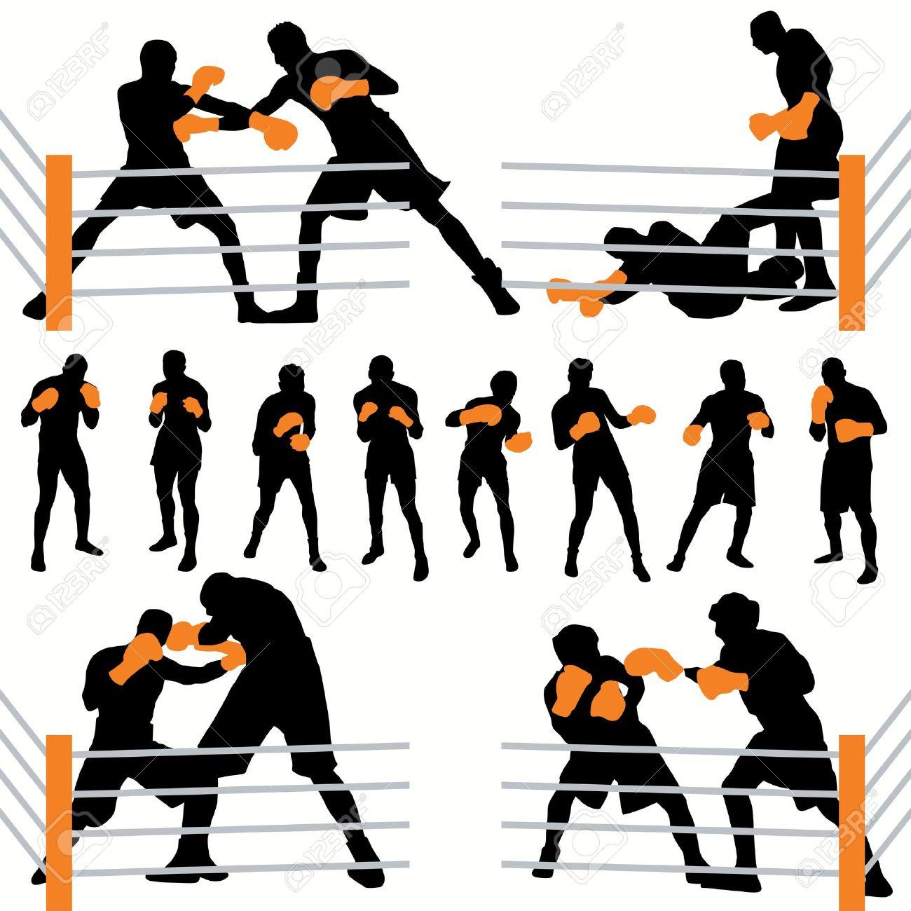 boxer outline clipart #7