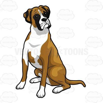 Image result for boxer dog clipart.