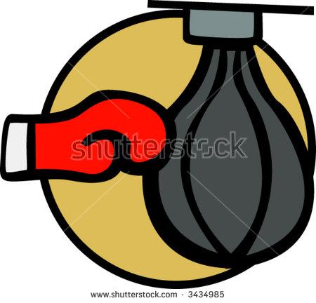 Boxing Speed Bag Stock Vector Illustration 3434985 : Shutterstock.