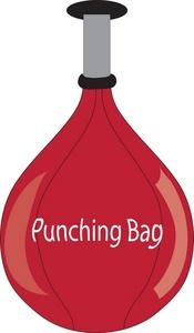Boxing bag clipart.