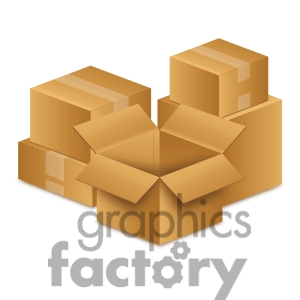 Moving Boxes Clipart.
