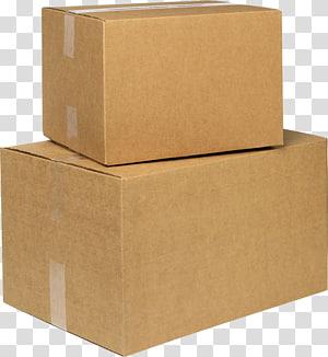 Adhesive tape Paper Cardboard box, box transparent background PNG.