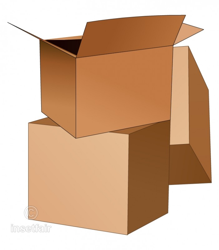 Empty packing cotton boxes in png format.