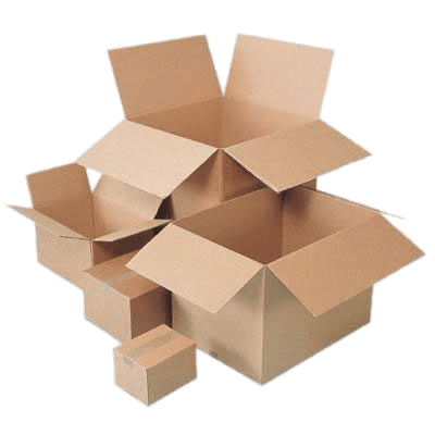 Cardboard Boxes Different Sizes transparent PNG.