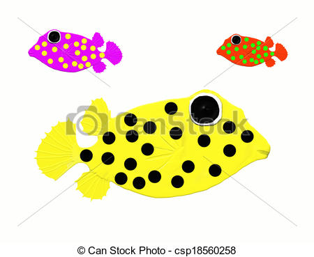Stock Illustrations of Box fish.