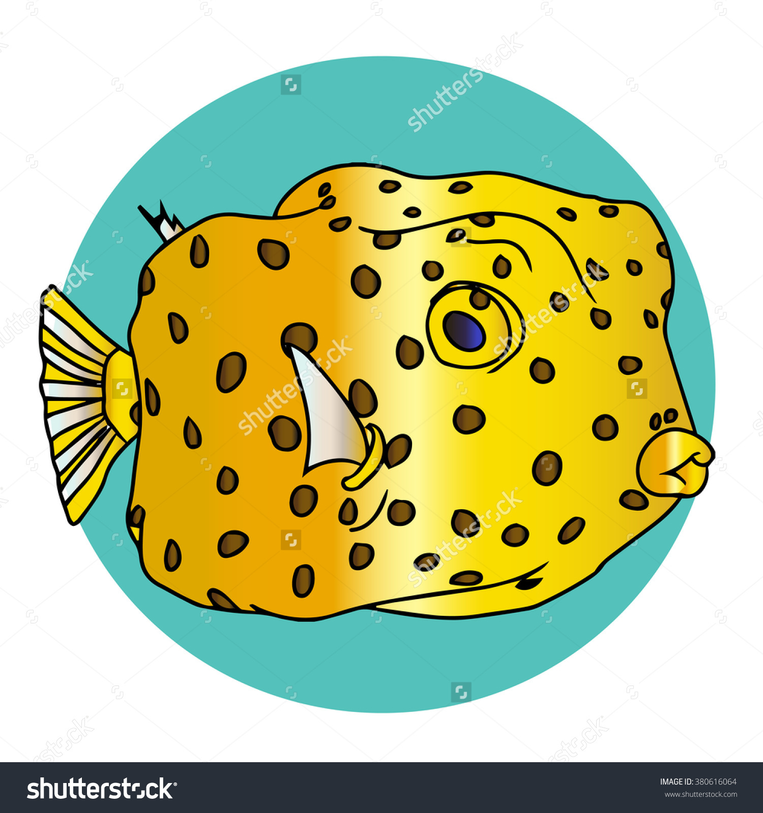 Yellow Box Fish Stock Illustration 380616064.
