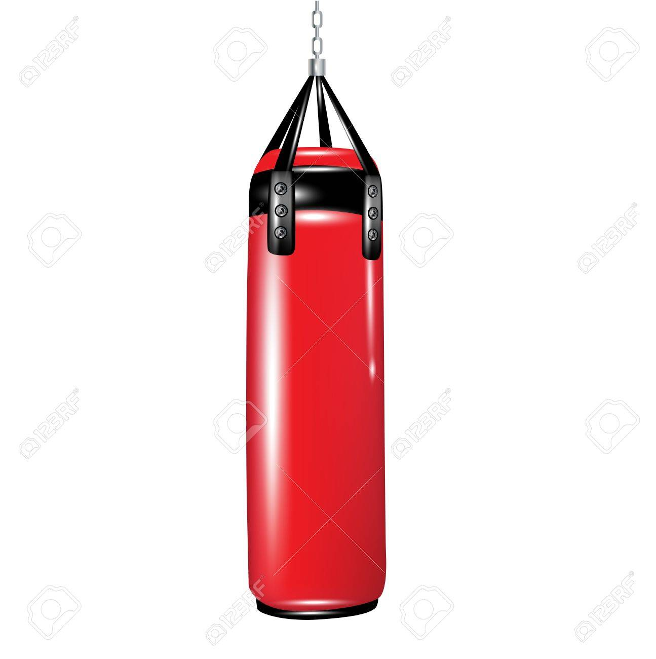 punching bag for boxing isolated on white.