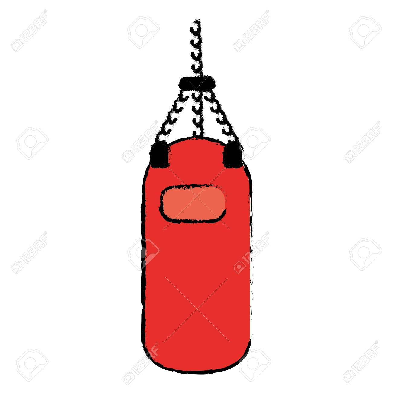 Drawing red punching bag training gym icon » Clipart Station.