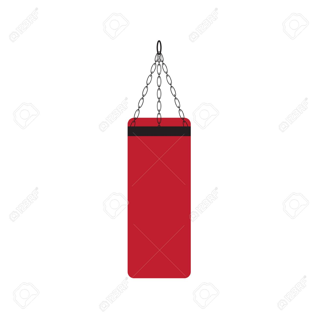 boxing punching bag icon.