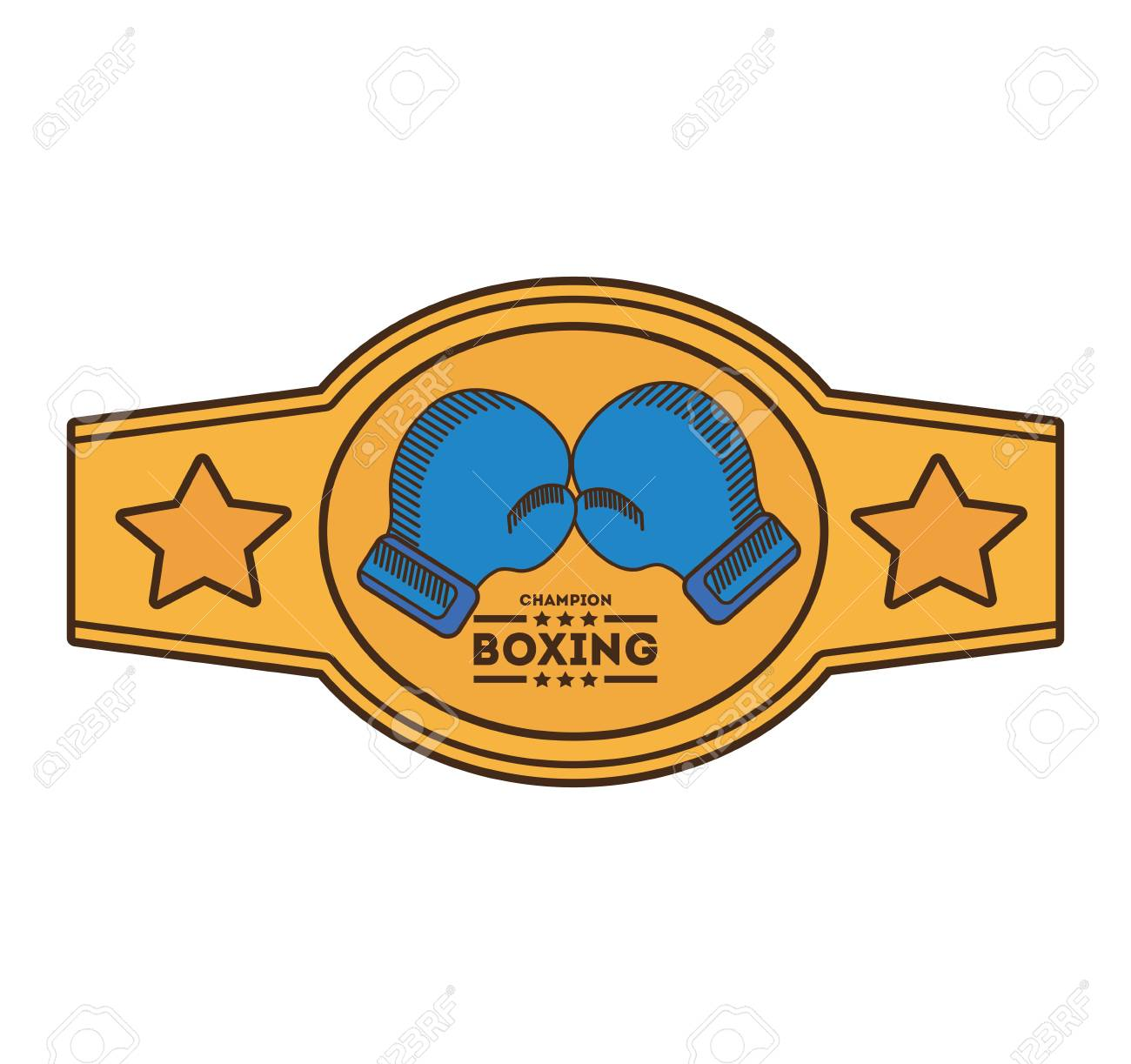boxing championship belt isolated icon vector illustration design.