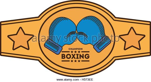 Boxing Champion Belt Clipart.