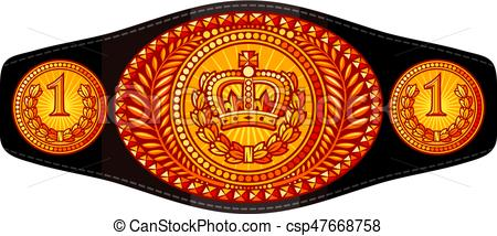 champion (boxing) belt vector illustration.
