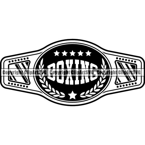 Sports Boxing Boxer MMA Fighter Championship Belt ClipArt SVG.