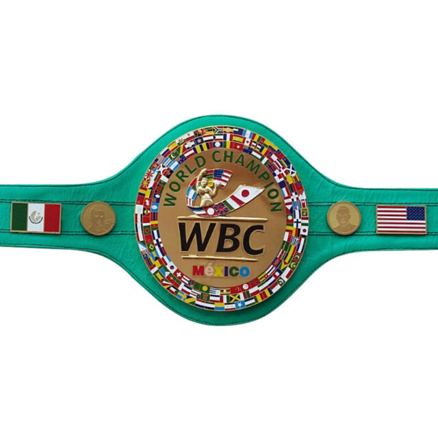 WBC Championship Boxing Belt Mexico Genuine Leather 3d Adult.