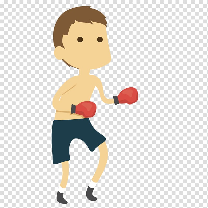 Motion Cartoon , boxing match transparent background PNG clipart.
