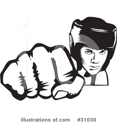 Female Boxing Clipart.