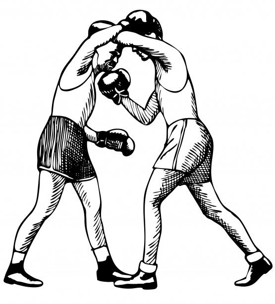 Boxing Illustration Clipart Free Stock Photo.