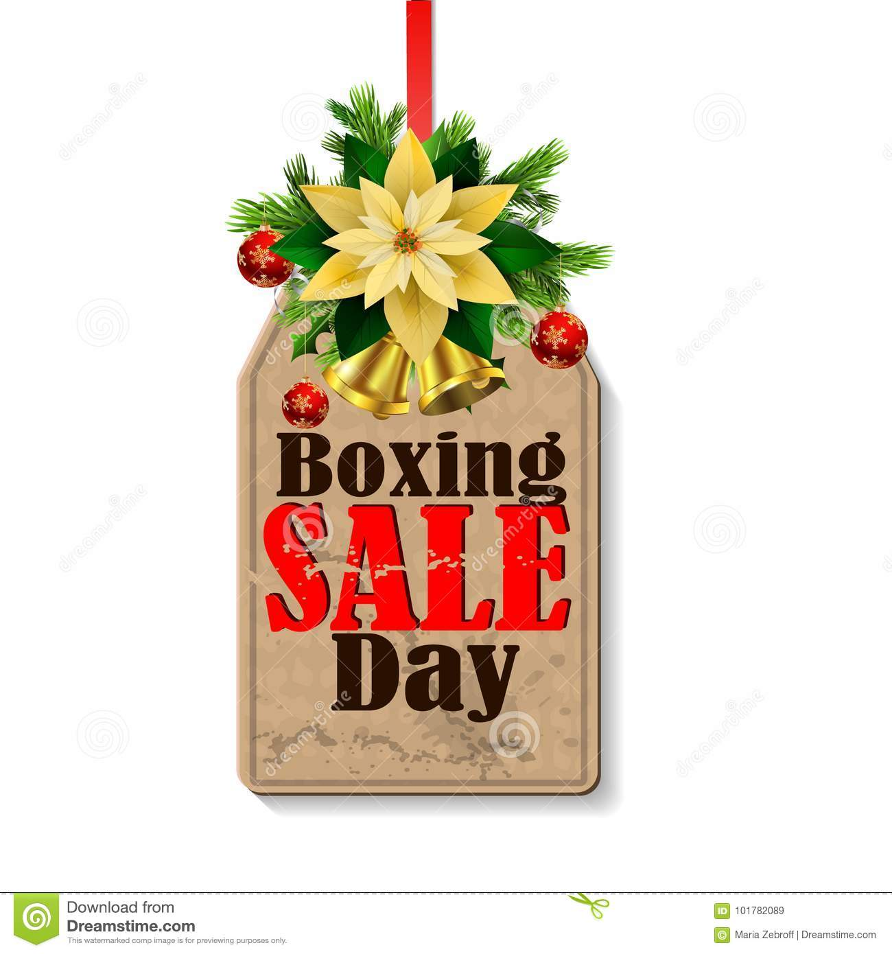 Boxing day tag stock vector. Illustration of clipart.