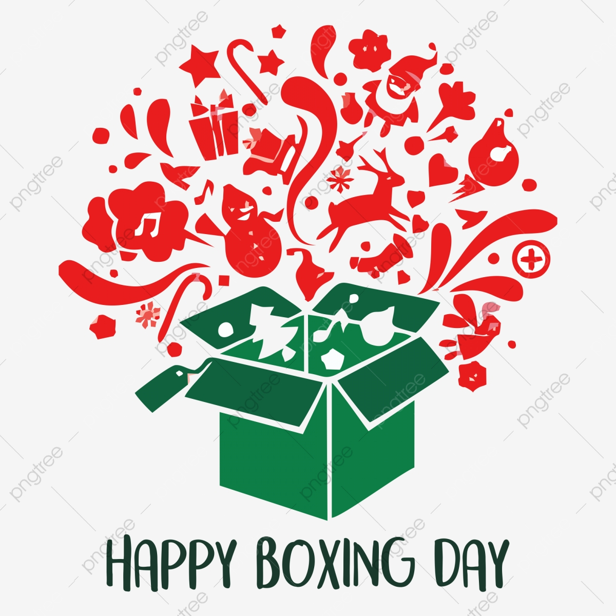 Happy Boxing Day, Christmas Day, Boxing Day PNG Transparent Image.