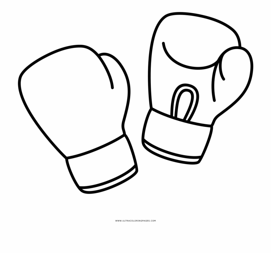 Boxing Gloves Coloring Page.
