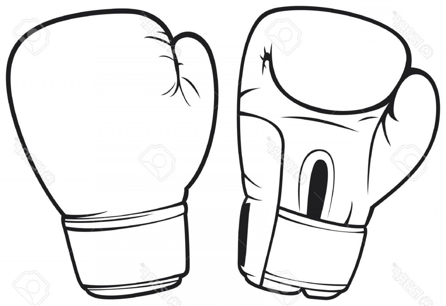 Boxing Gloves Clipart Black And White.