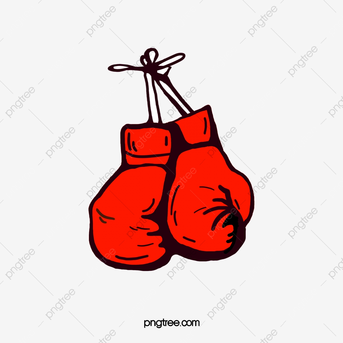 A Pair Of Red Boxing Gloves Cartoon, Boxing Clipart, Gloves Clipart.