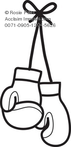 Clipart Illustration of Boxing Gloves.