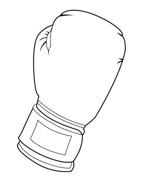 Black and white boxing glove' by William Rossin on artflakes.com as.